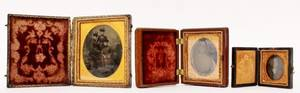 Group of Three Cased Tintypes