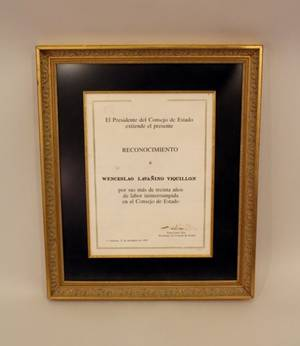 A Framed and Matted Fidel Castro Signed Document