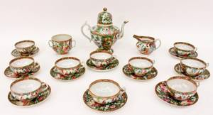 Chinese Rose Medallion Porcelain Tea Set
