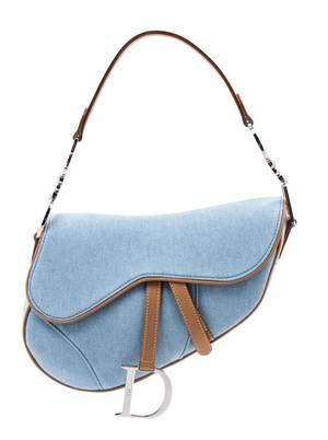 A Christian Dior Light Denim Saddle Handbag
