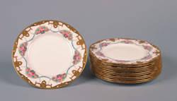A Set of Twelve Royal Worcester Porcelain Plates