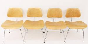 Set of 4 Charles  Ray Eames DCM Dining Chairs