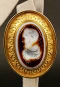 18k Intaglio Wax Seal Cameo Brooch