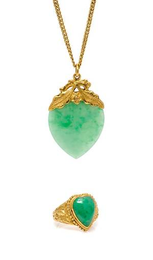A Collection of High Karat and Jade Jewelry