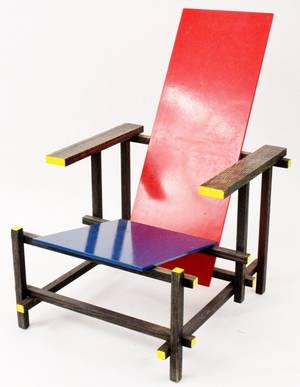 Red and Blue Chair After Gerrit Rietveld