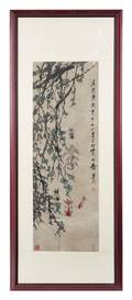 An Ink and Color Scroll Painting on Paper