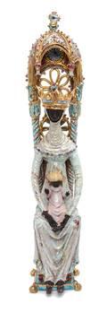 An Italian Ceramic Madonna and Child Sculpture