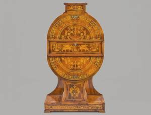 167 UNUSUAL AND RARE MARQUETRY SECRETARY
