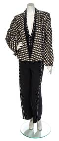 A Pauline Trigere Black Wool Halter Jumpsuit