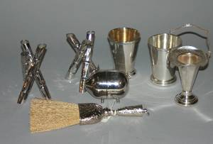 A Group of Miscellaneous Silverplate Table Articles
