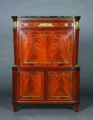 An Empire Mahogany Secretaire a Abbatant