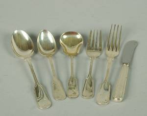 An Amercian Silver Flatware Service for Eleven Frank W Smith
