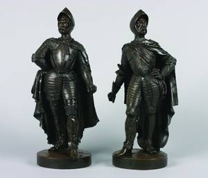 A Pair of French Bronze Figures