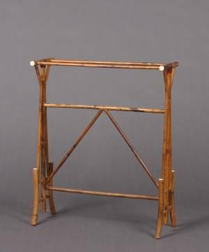 A Bamboo Blanket Rack