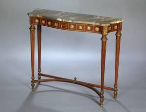 279 LOUIS XVI STYLE MAHOGANY CONSOLE TABLE