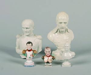 A Group of Five Busts of Napoleon I