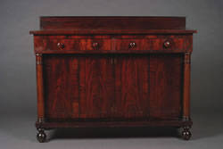 An American Empire Mahogany Sideboard