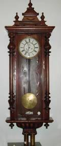A German Walnut Regulator Clock by Gustav Becker