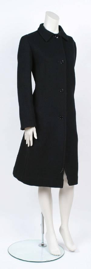 A Jil Sander Black Wool Coat