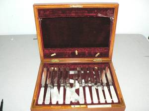 A Partial Set of MotherofPearl Flatware Mappin Bros