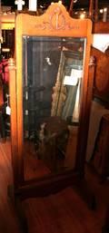 An American Oak Cheval Mirror