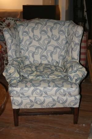 A Georgian Style Wingback Armchair