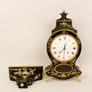 19th C Swiss Neuchatel Clock with Wall Bracket