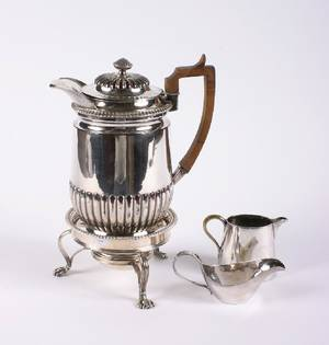 An English Silverplate Coffee Pot Matthew Boulton
