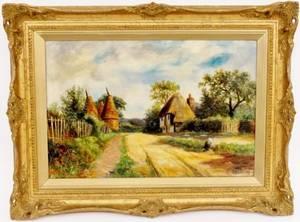 Oil on Canvas Farm Scene Signed J Bonny 98