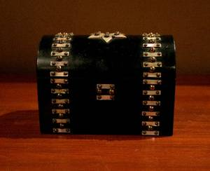 An Ebonized and MotherofPearl Inlaid Table Box