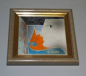 A Gilbert Valentin Ceramic Tile
