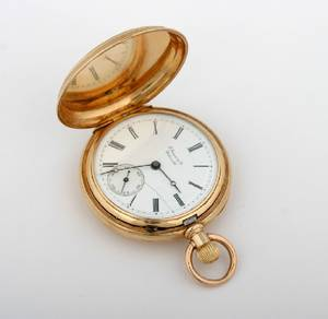 A 14 Karat Yellow Gold Pocketwatch E Jaccard and Co St Louis MO