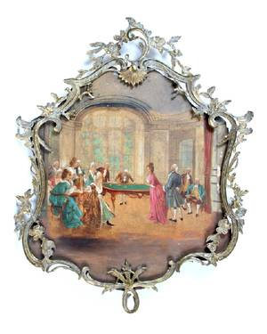 A Parlor Scene Painted on Board