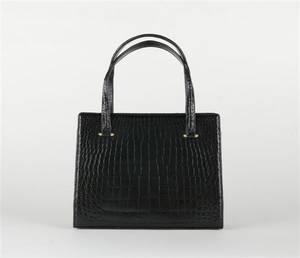 A Lucille de Paris Black Alligator Handbag