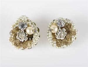 A Pair of Miriam Haskell Earrings