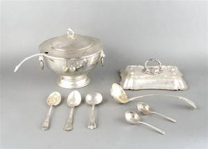 An English Silverplate Covered Tureen