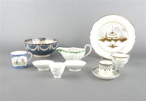 A Group of English Creamware and Pearlware Table Articles