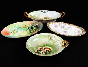 308 GROUP OF FOUR ASSORTED PORCELAIN DISHES