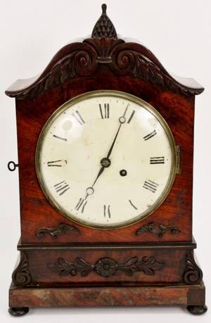 English Regency Mahogany Mantel Clock