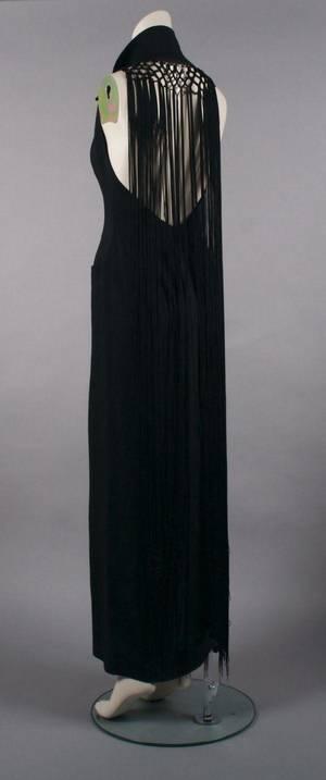 A Bernard Perris Black Evening Fringe Dress