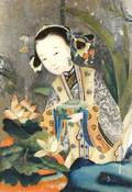 A Chinese Reverse Painting on Glass