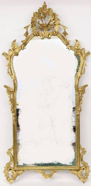 Louis XV Style Carved Giltwood Mirror