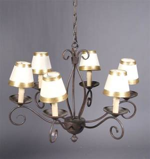 A Painted Six Light Chandelier