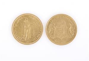 Two Hungarian Gold Coins