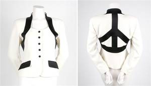 A Moschino Black and White Peace Jacket