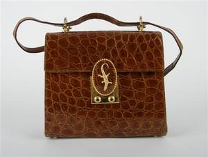 A Brown Alligator Handbag
