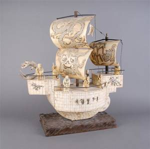 An Ivory Model of Dragon Boat