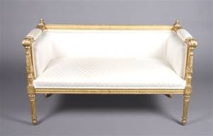 A Directoire Style Giltwood Canap