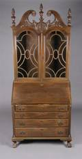 A Chippendale Style Secretary Bookcase