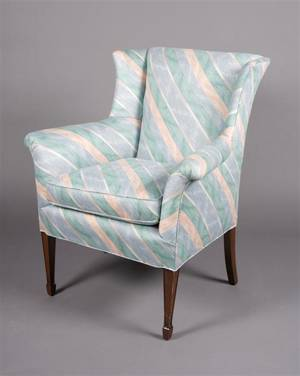 Two Upholstered Arm Chairs